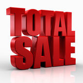 3D total sale — Stock Photo