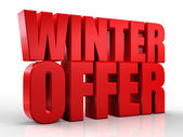 3D winter offer word on white isolated background — Stock Photo