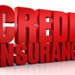 3d credit Insurance text isolated over white background — Stock Photo