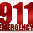 3d 911 Emergency text isolated over white background — Stock Photo