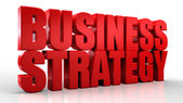3D Business Strategy text on white background — Stock Photo