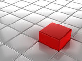 3D Selection Red Cube — Stock Photo