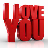 3d I Love You — Stock Photo
