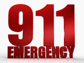 3d 911 Emergency text isolated over white background — Foto de Stock