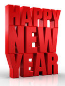 3d happy new year — Stock Photo