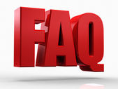 3d FAQ text isolated over white background — Stock Photo
