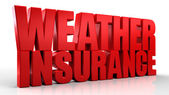3d weather Insurance text isolated over white background — Stock Photo