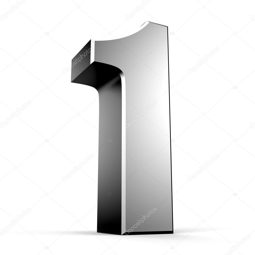 3D number 1 from my metal number collection — Stock Photo © yavuzunlu #26307257