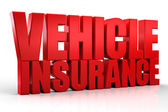 3d Vehicle Insurance text isolated over white background — Stock Photo