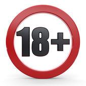 18 plus Sign — Stock Photo