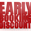 3D Early Booking Discount text on white background — Stock Photo #26363965