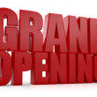 3D Grand Opening text on white background — Stock Photo #26364211