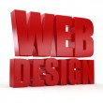 3D web design text on white background — Stock Photo