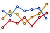 3D Bar Chart Line — Stock Photo