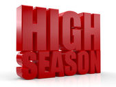 3D High Season text on white background — Stock Photo