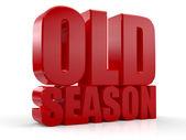 3D old season words — Stock Photo