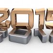 3D 2013 year golden figures — Stock Photo #35797987