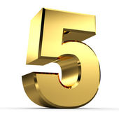 3D Golden Number Collection — Stock Photo