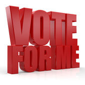 3d vote for me text — Stock Photo