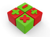 3d render of colorful cubes — Stock Photo