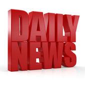 3D Daily News word — ストック写真