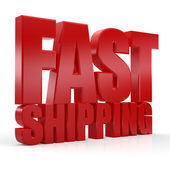 3D Fast Shipping word — Stock Photo