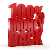 3d Money Back Guaranteed Text — Stock Photo