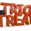 Foto de Stock  : 3d Trick or Treat Text