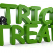 3d Trick or Treat Text — Stock Photo #35811991