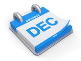 3d illustration december kalender — Stockfoto