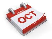 3d Illustration Octovber Calendar — Stock Photo