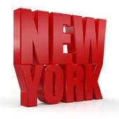 3D New York word — Stock Photo