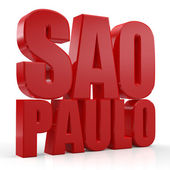 3D Sao Paulo word — Stock Photo