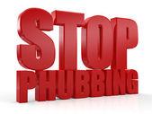3D stop phubbing text — Stock Photo