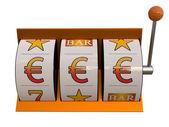 Slot machine with euro symbol jackpot — Stock Photo