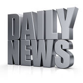 3D Daily News word — Stock Photo