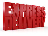 3D Express Delivery text — Stock Photo