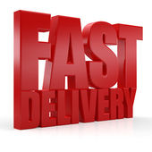 3D Fast Delivery text — Stock Photo
