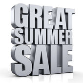 3D Great Summer Sale text — Stock Photo
