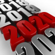 Stock Photo: 3D happy new year red 2020