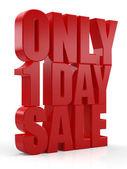 Eines Tages Verkauf 3D-Text — Stockfoto