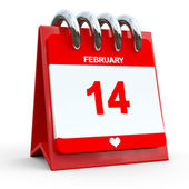 14 februari kalender — Stockfoto