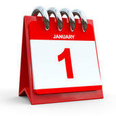 1 january calendar — Stock Photo