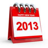 3D rot Kalender 2013 — Stockfoto