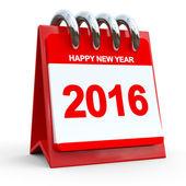 3d röd kalender 2016 — Stockfoto