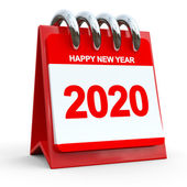 3D Red Calendar 2020 — Stock Photo