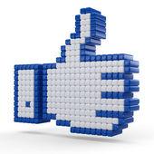 3D like symbol — Stock Photo