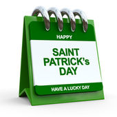 Happy St. Patrick's Day Calendar Page — Stock Photo