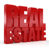 3d real estate text — Photo
