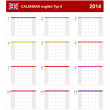 Stock Vector: Calendar 2014 English Type 8